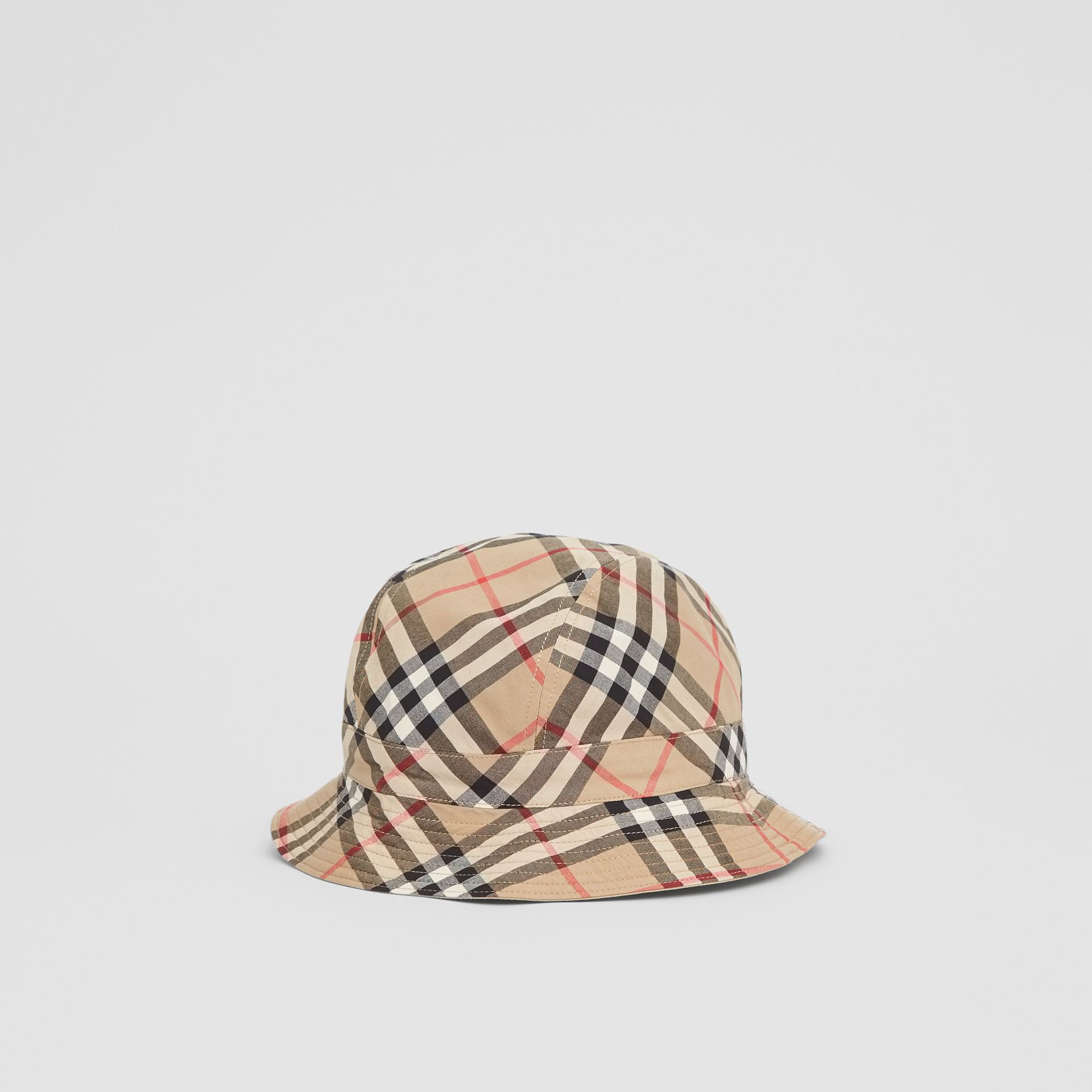 Reversible Vintage Check Bucket Hat in Archive Beige - Children | Burberry - gallery image 2