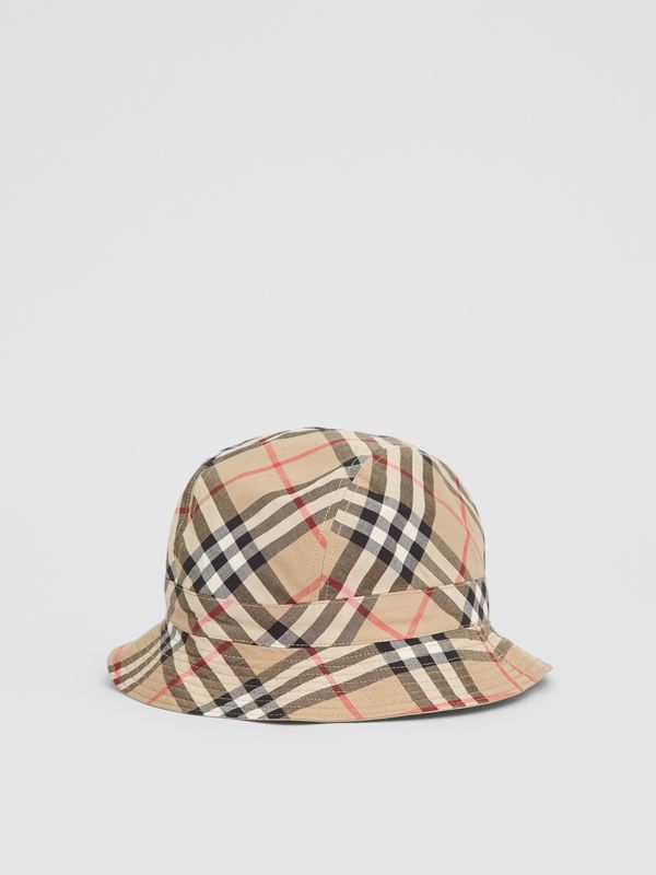 Reversible Vintage Check Bucket Hat in Archive Beige - Children | Burberry Australia - cell image 2
