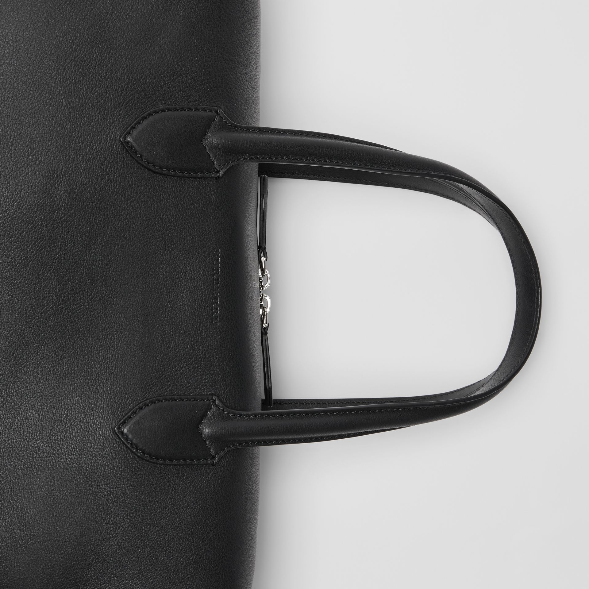 Soft Leather Holdall in Black - Men | Burberry - gallery image 1
