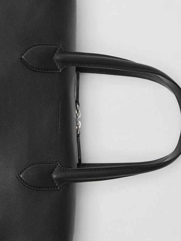Soft Leather Holdall in Black - Men | Burberry Canada - cell image 1
