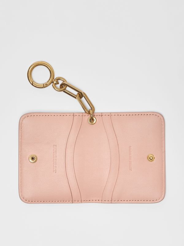 Link Detail Patent Leather ID Card Case Charm in Pale Fawn Pink - Women | Burberry United States - cell image 3