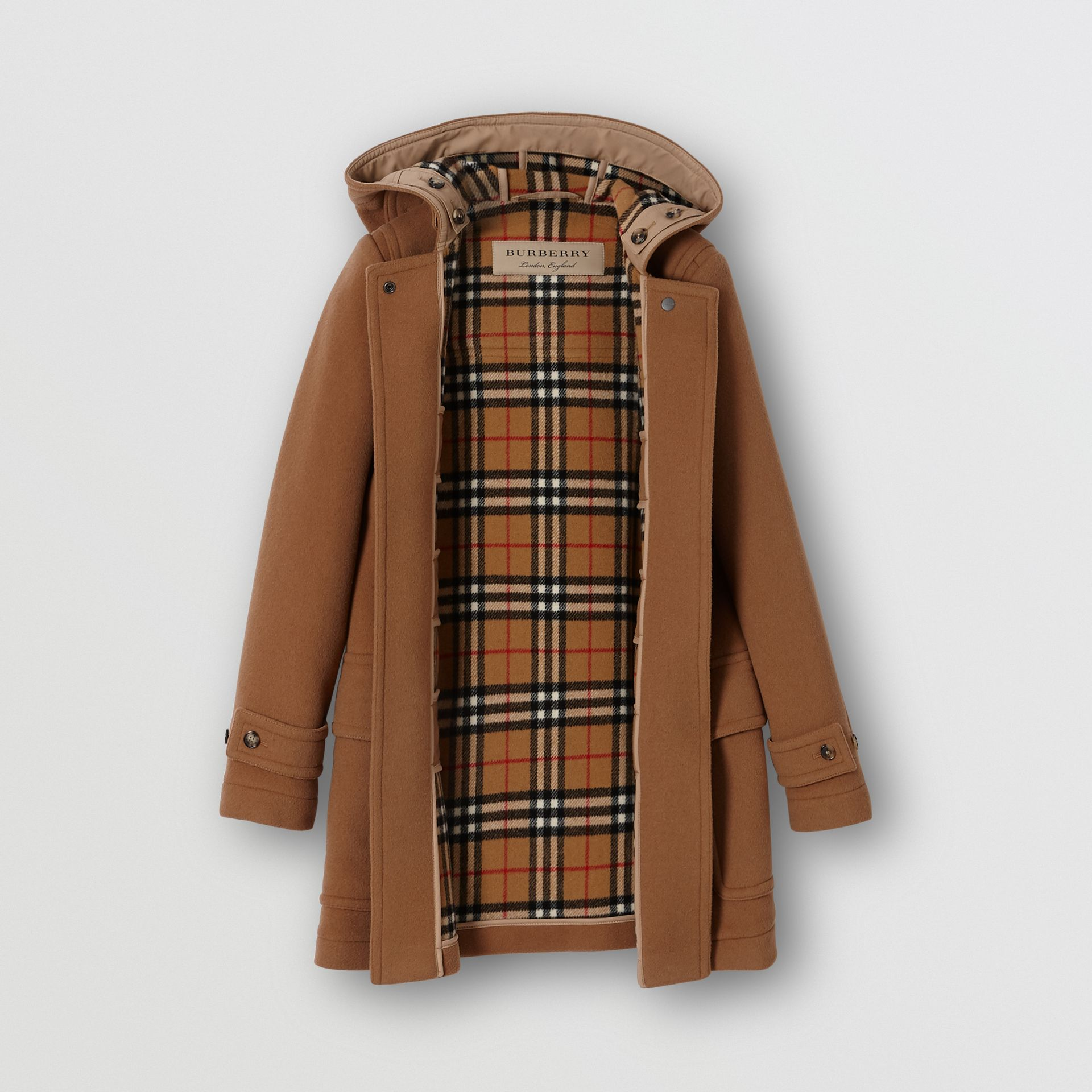 Wool Blend Duffle Coat in Camel - Women | Burberry United States - gallery image 3