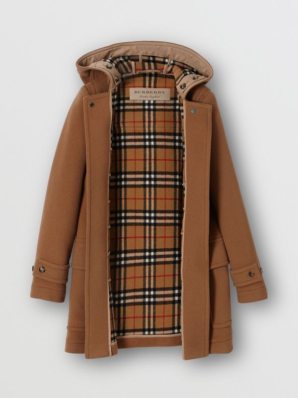 Wool Blend Duffle Coat in Camel - Women | Burberry United States - cell image 3