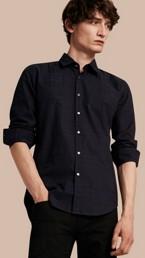 Check Jacquard Cotton Shirt