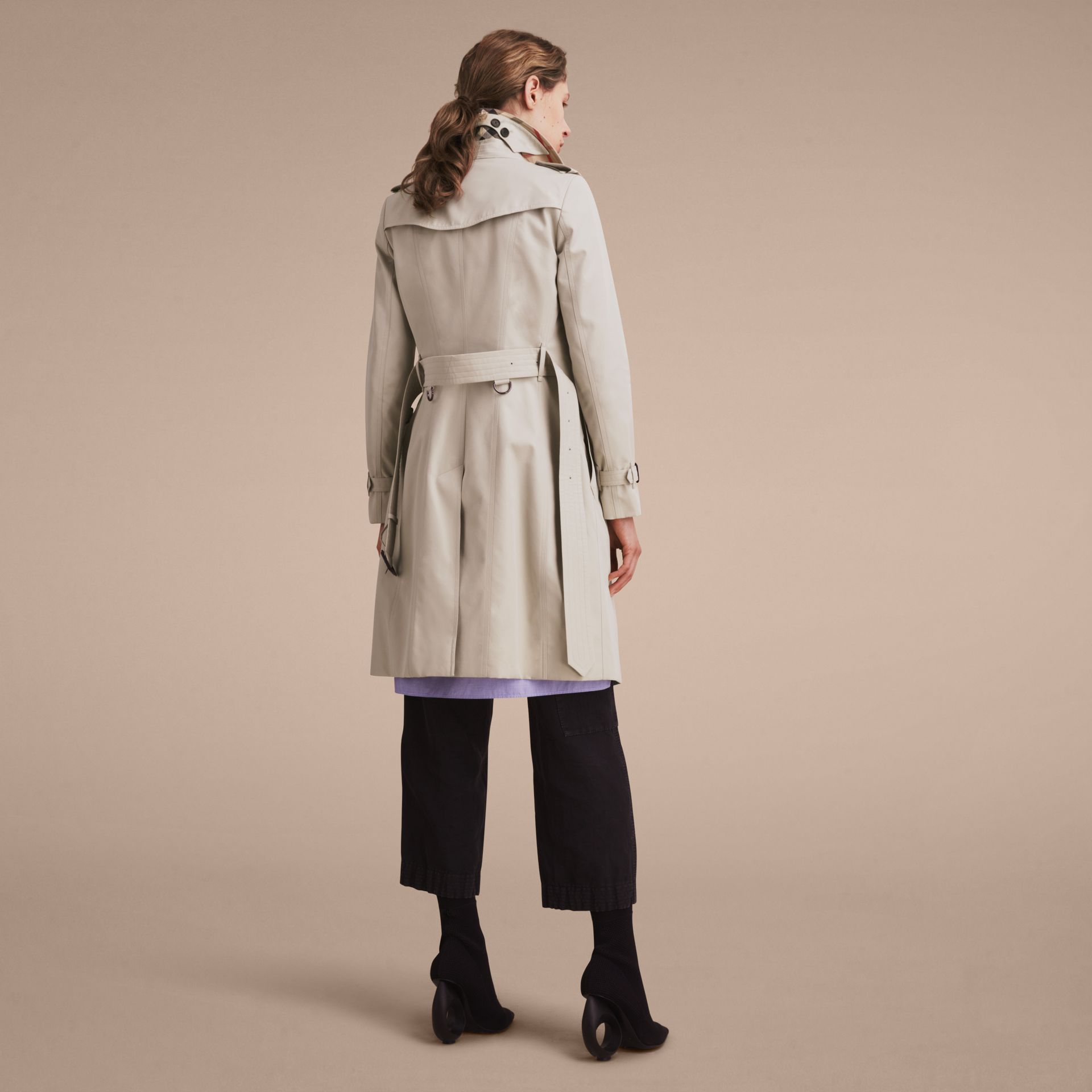 Stone The Chelsea – Long Heritage Trench Coat Stone - gallery image 4