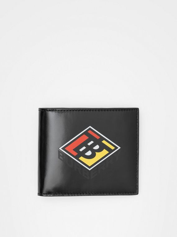 Logo Graphic Canvas International Bifold Wallet in Black