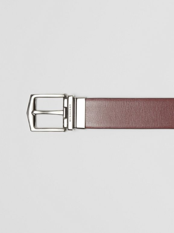 Reversible London Leather Belt in Burgundy Red/black - Men | Burberry - cell image 1
