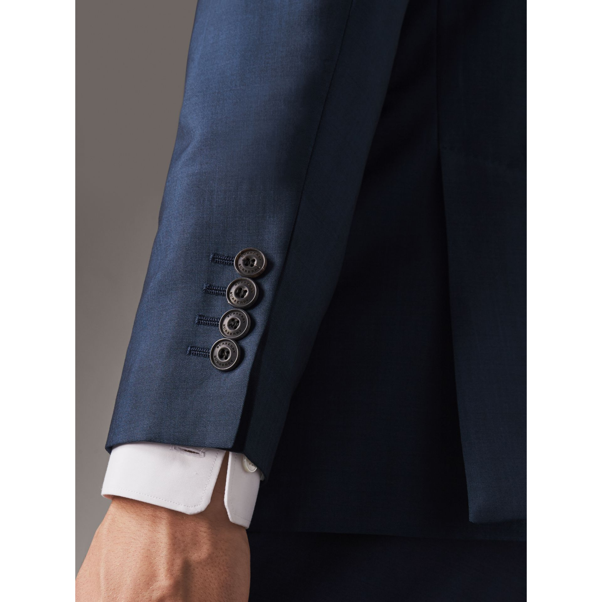 Soho Fit Wool Mohair Suit in Bright Navy - Men | Burberry Australia - gallery image 1