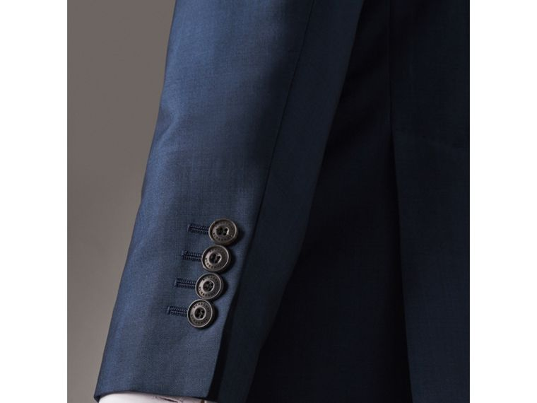 Soho Fit Wool Mohair Suit in Bright Navy - Men | Burberry United States - cell image 1