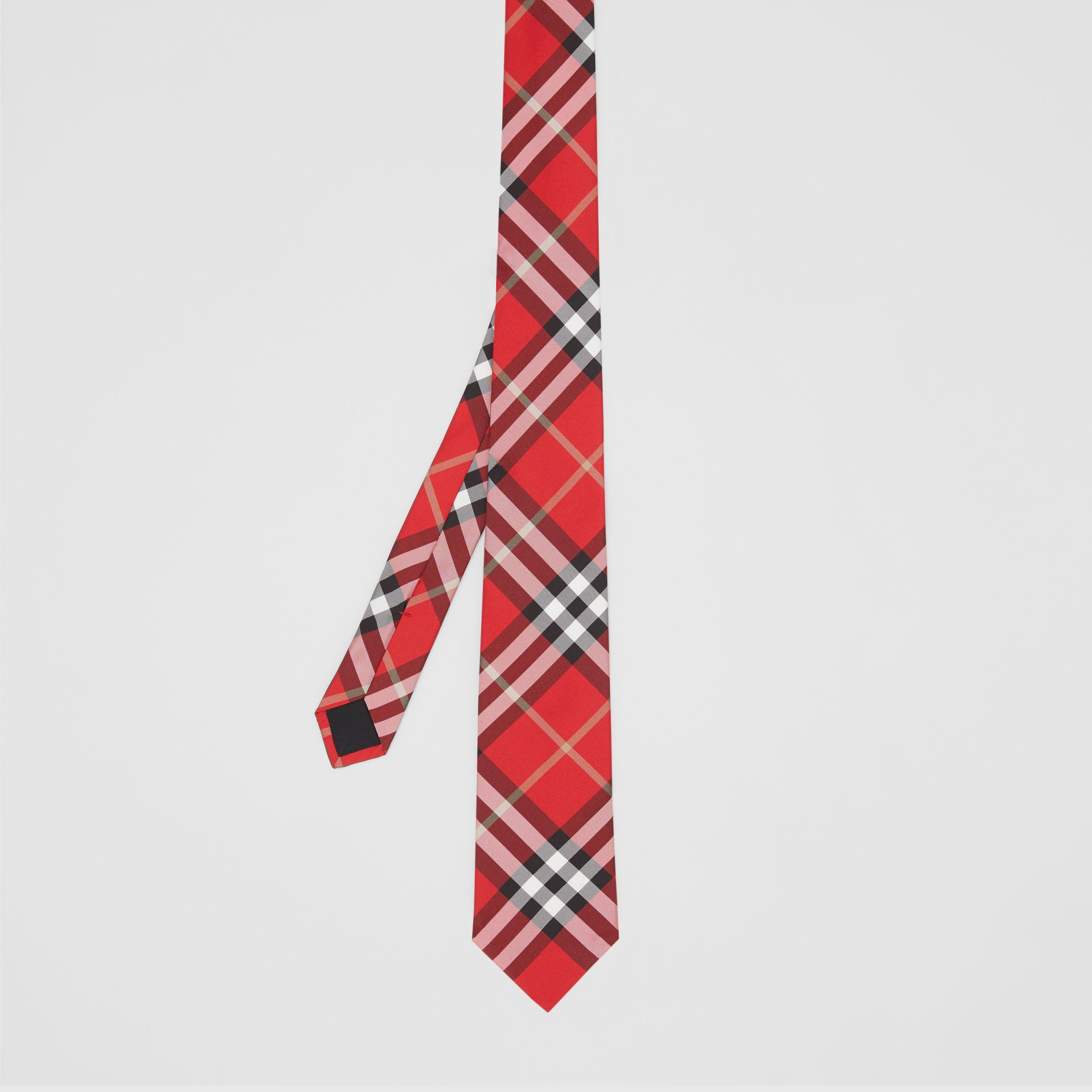 Classic Cut Vintage Check Silk Tie in Red - Men | Burberry - gallery image 4