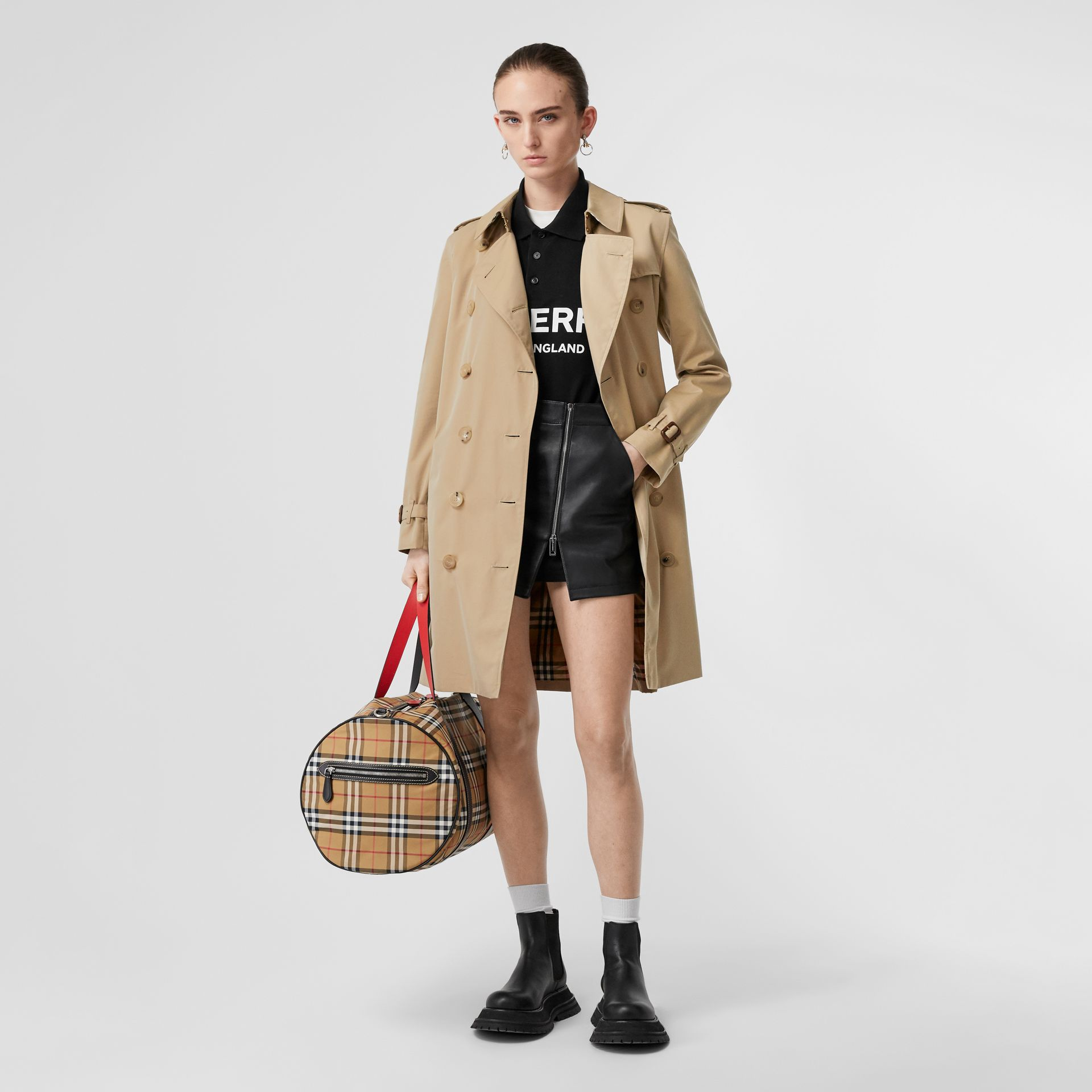 Trench Heritage The Kensington (Miel) - Femme | Burberry - photo de la galerie 0