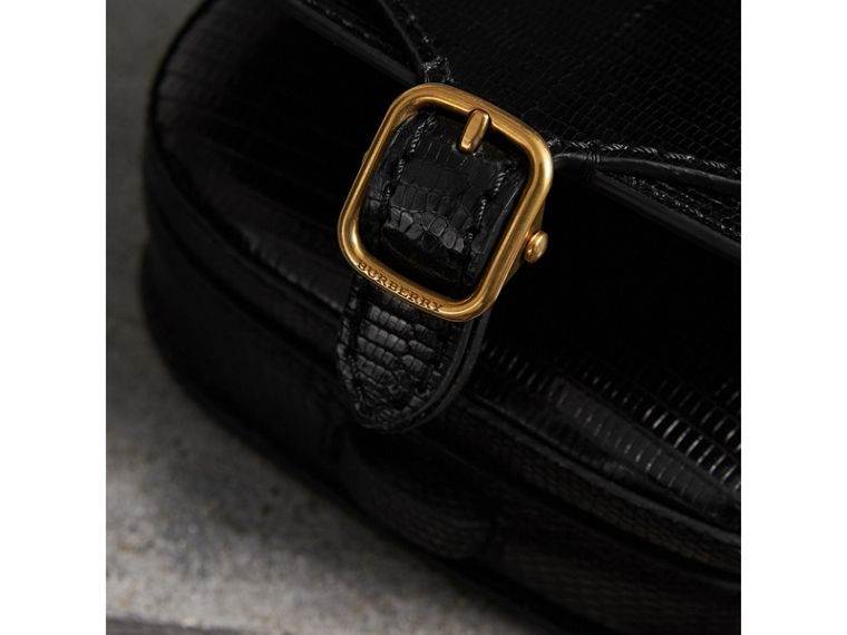 The Satchel in Lizard in Black - Women | Burberry United States - cell image 1