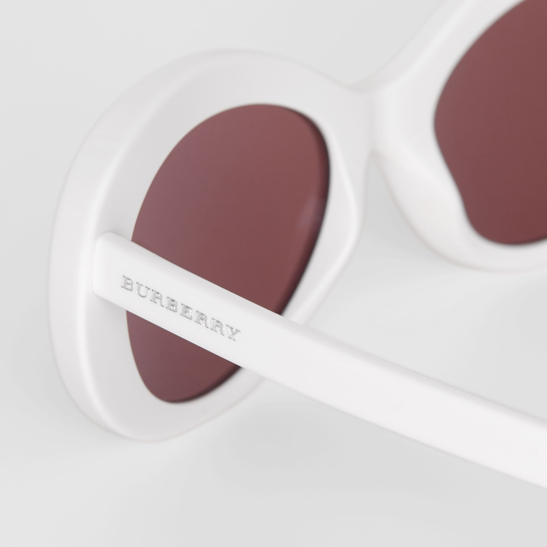 Cat-eye Frame Sunglasses in White - Women | Burberry Canada - gallery image 1