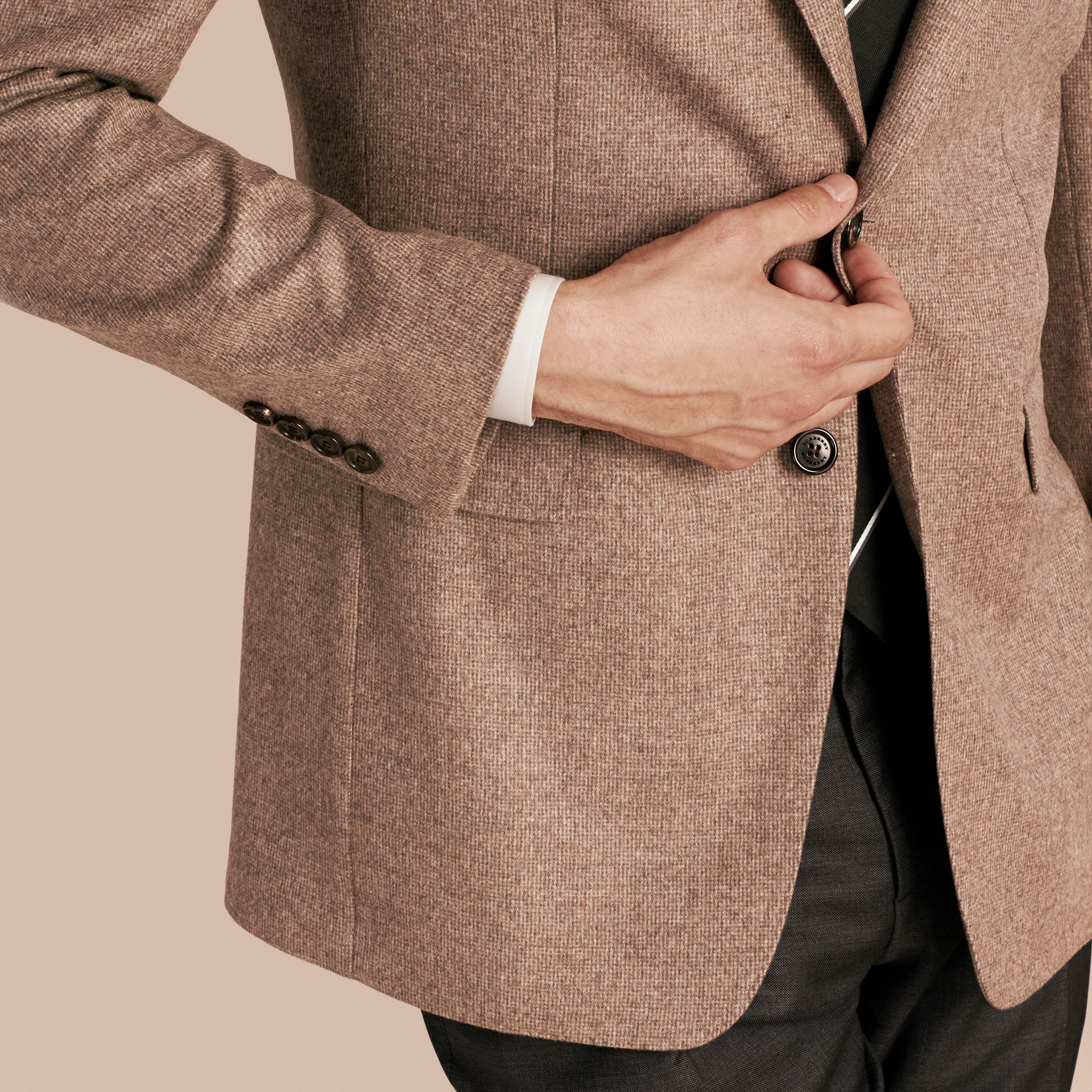 Camel Modern Fit Wool Cashmere Silk Tailored Jacket - gallery image 6