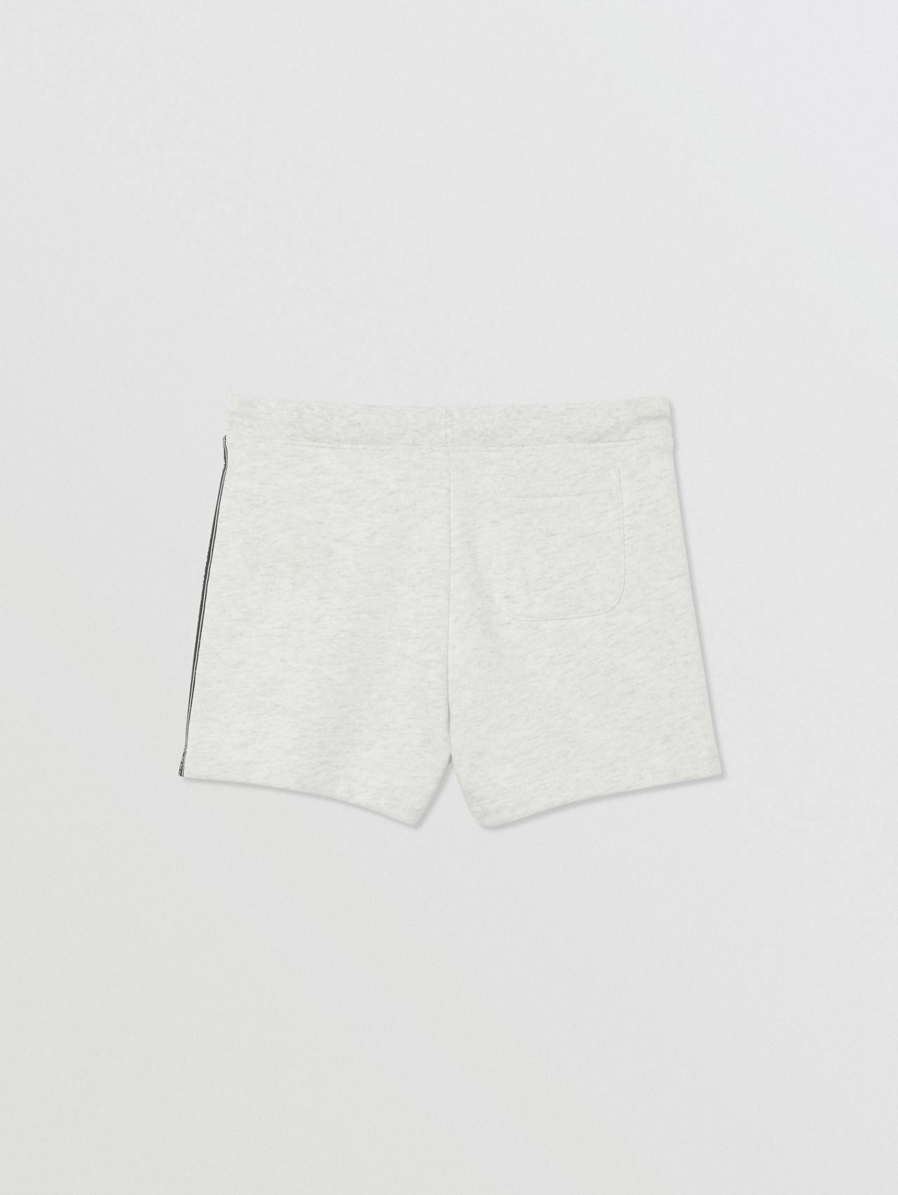 Logo Tape Cotton Drawcord Shorts (White Melange)