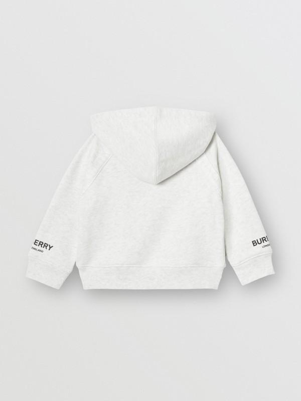 ロゴプリント コットン フーデッドトップ (ホワイトメランジ) - チルドレンズ | バーバリー - cell image 3