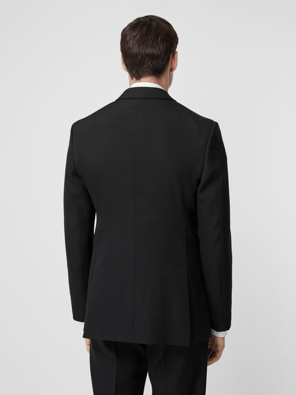 English Fit Double-front Detail Wool Tailored Jacket in Black | Burberry - cell image 2