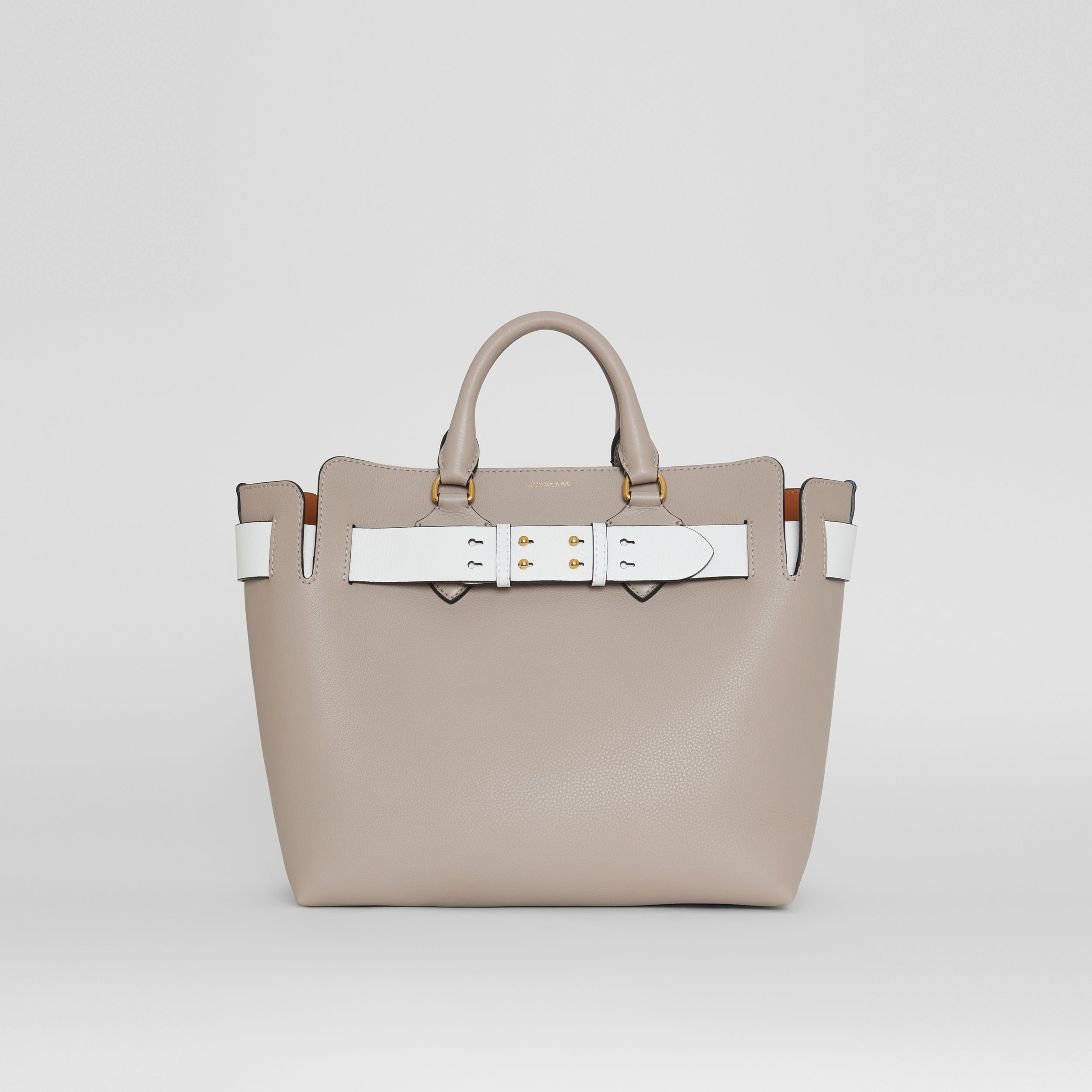 The Medium Leather Belt Bag in Mineral Grey - Women | Burberry - 1