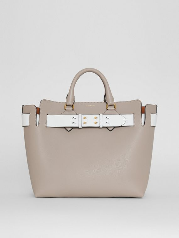 Borsa The Belt media in pelle (Grigio Minerale)