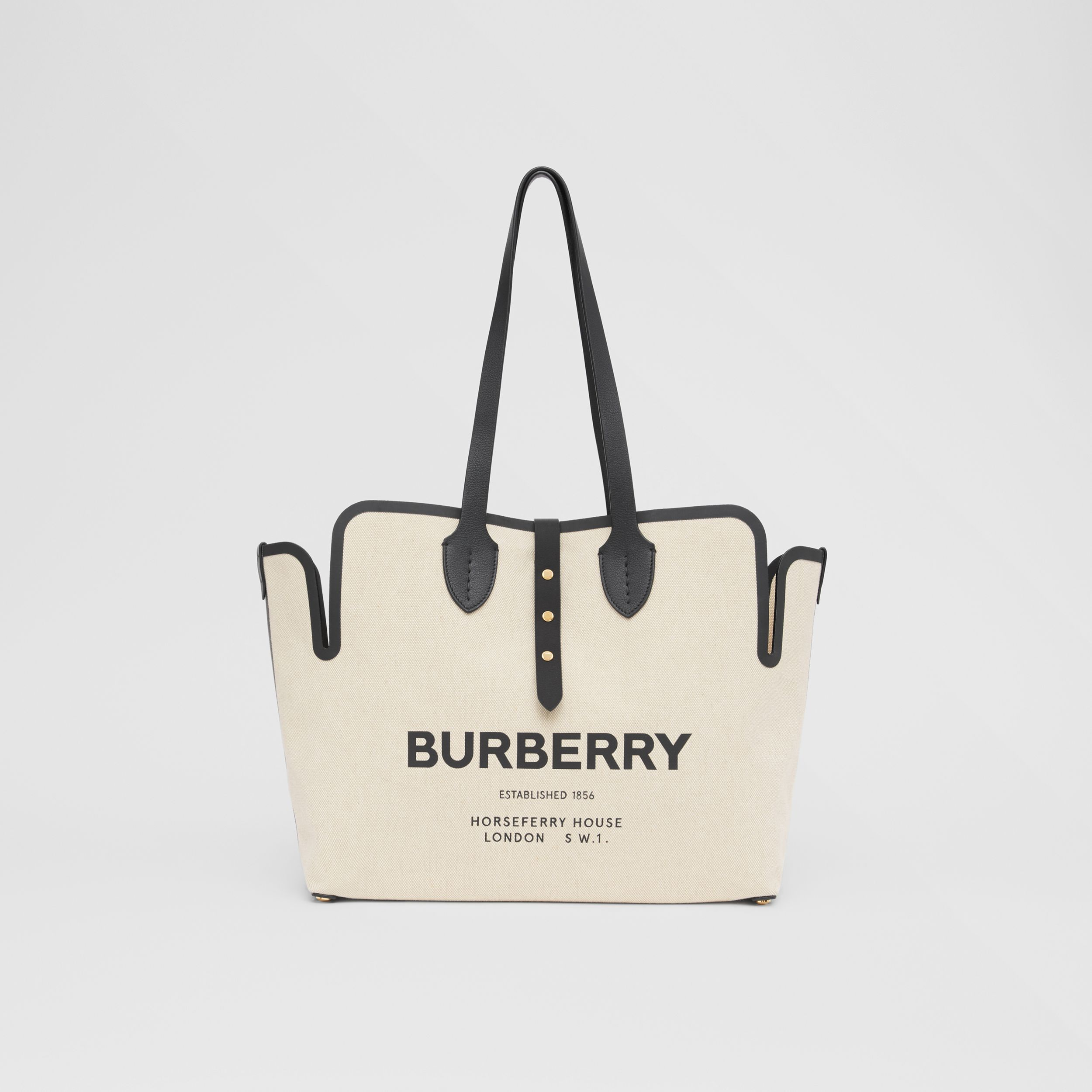 The Medium Soft Cotton Canvas Belt Bag in Black - Women | Burberry Canada - 1