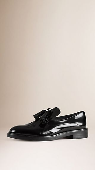 Tassel Detail Leather Loafers