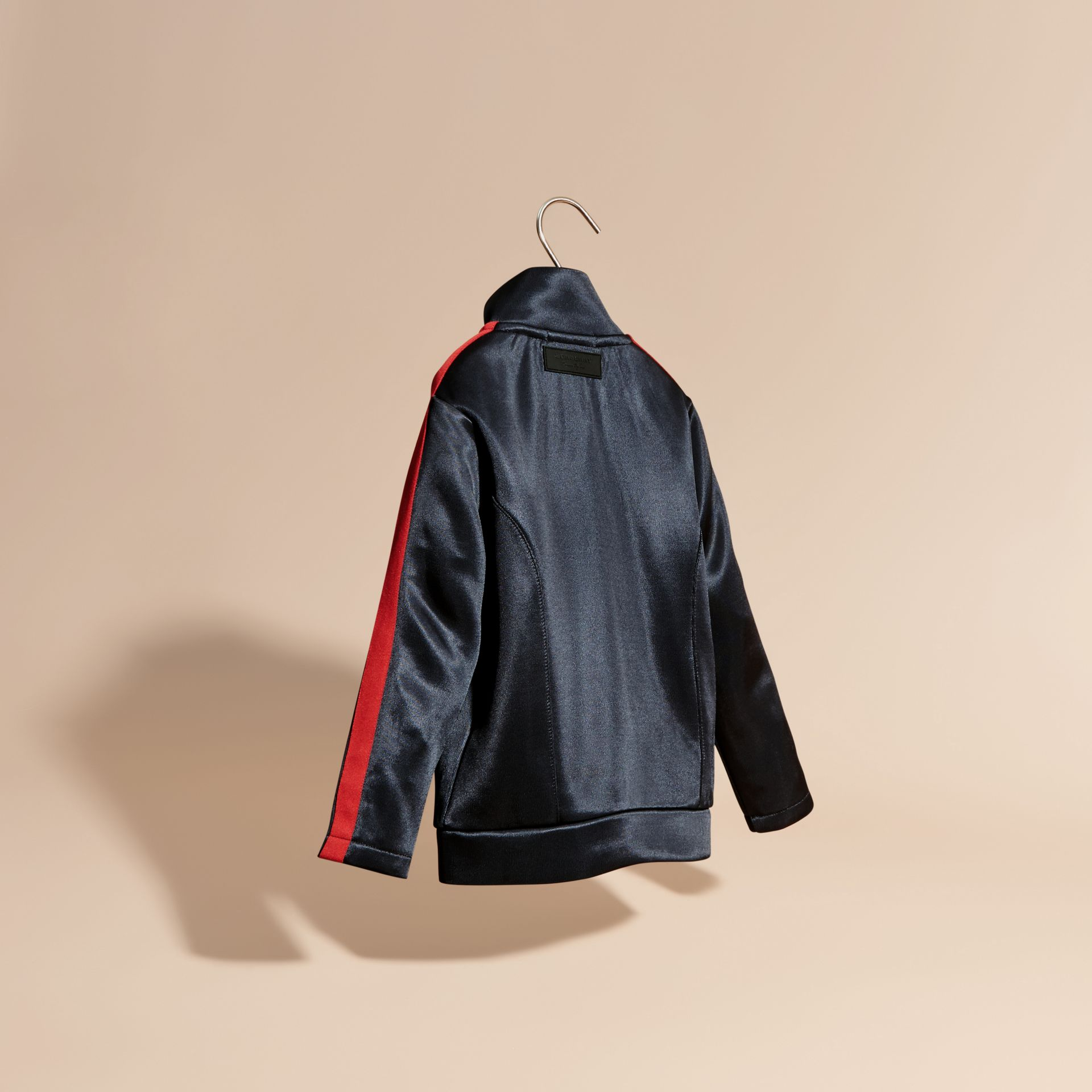 Navy High-shine Technical Track Jacket Navy - gallery image 4