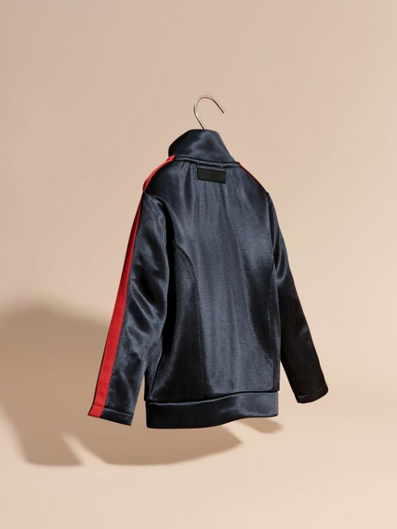 Navy High-shine Technical Track Jacket Navy - cell image 3