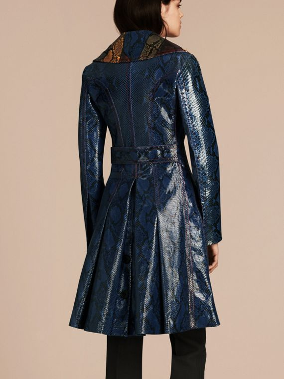 Mineral blue Regimental Glossy Python Coat - cell image 2