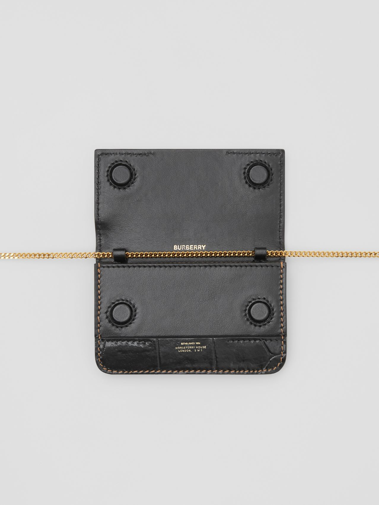 Suede and Leather Card Case with Detachable Strap in White/maple/black