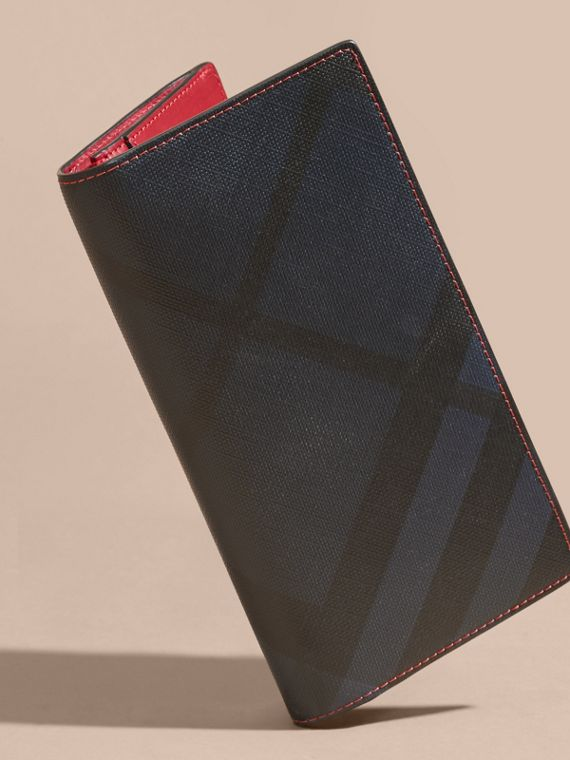 London Check and Leather Continental Wallet Parade Red - cell image 2