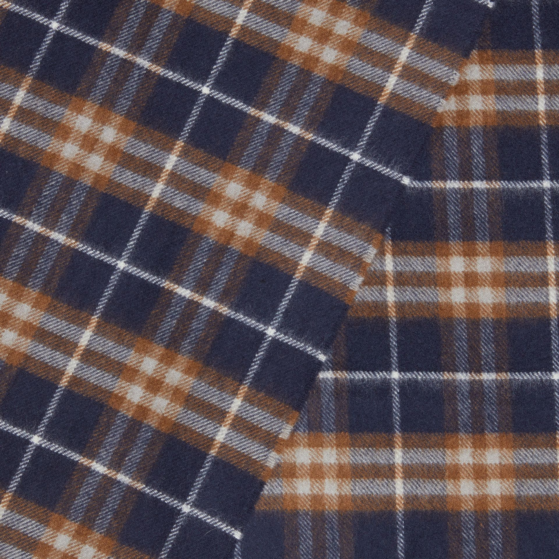 The Classic Vintage Check Cashmere Scarf in Dark Sapphire | Burberry Australia - gallery image 1