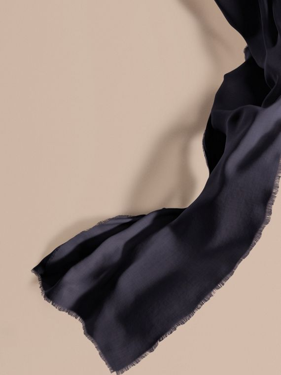 The Lightweight Cashmere Scarf in Navy | Burberry Canada
