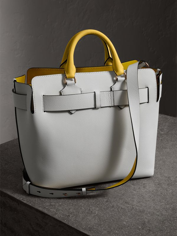 The Medium Leather Belt Bag in Chalk White/yellow - Women | Burberry - cell image 2