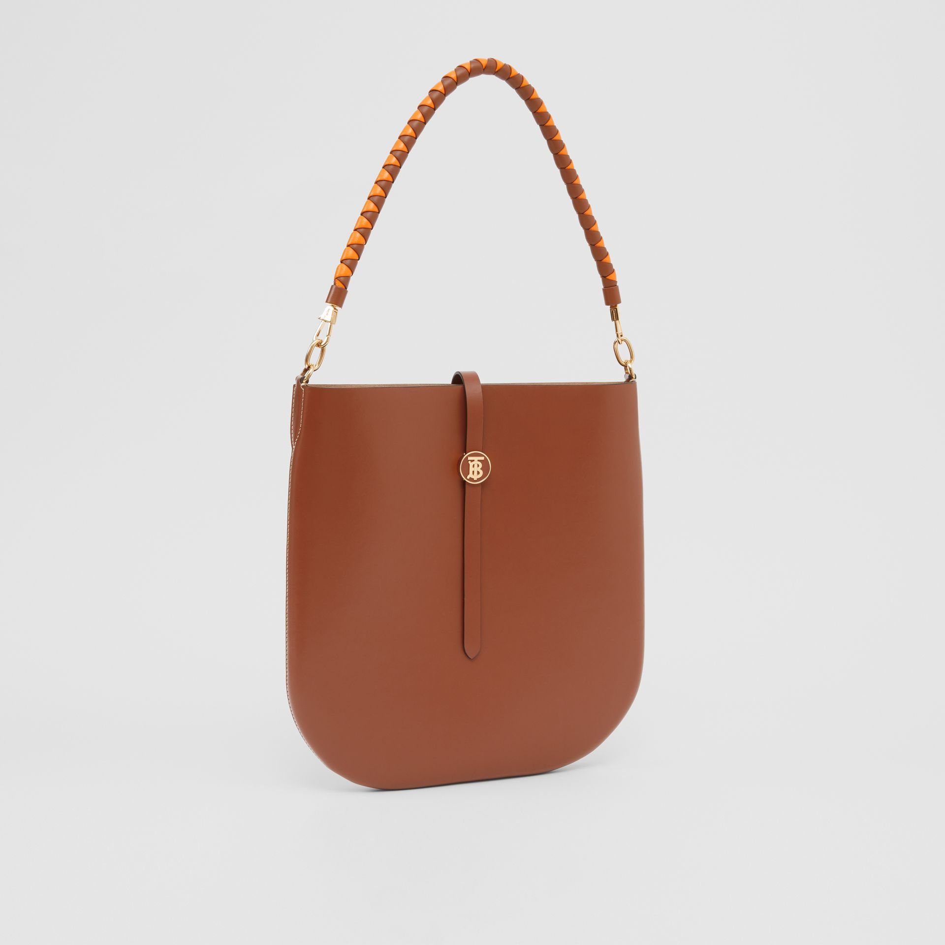 Leather Anne Bag in Tan - Women | Burberry Australia - gallery image 6