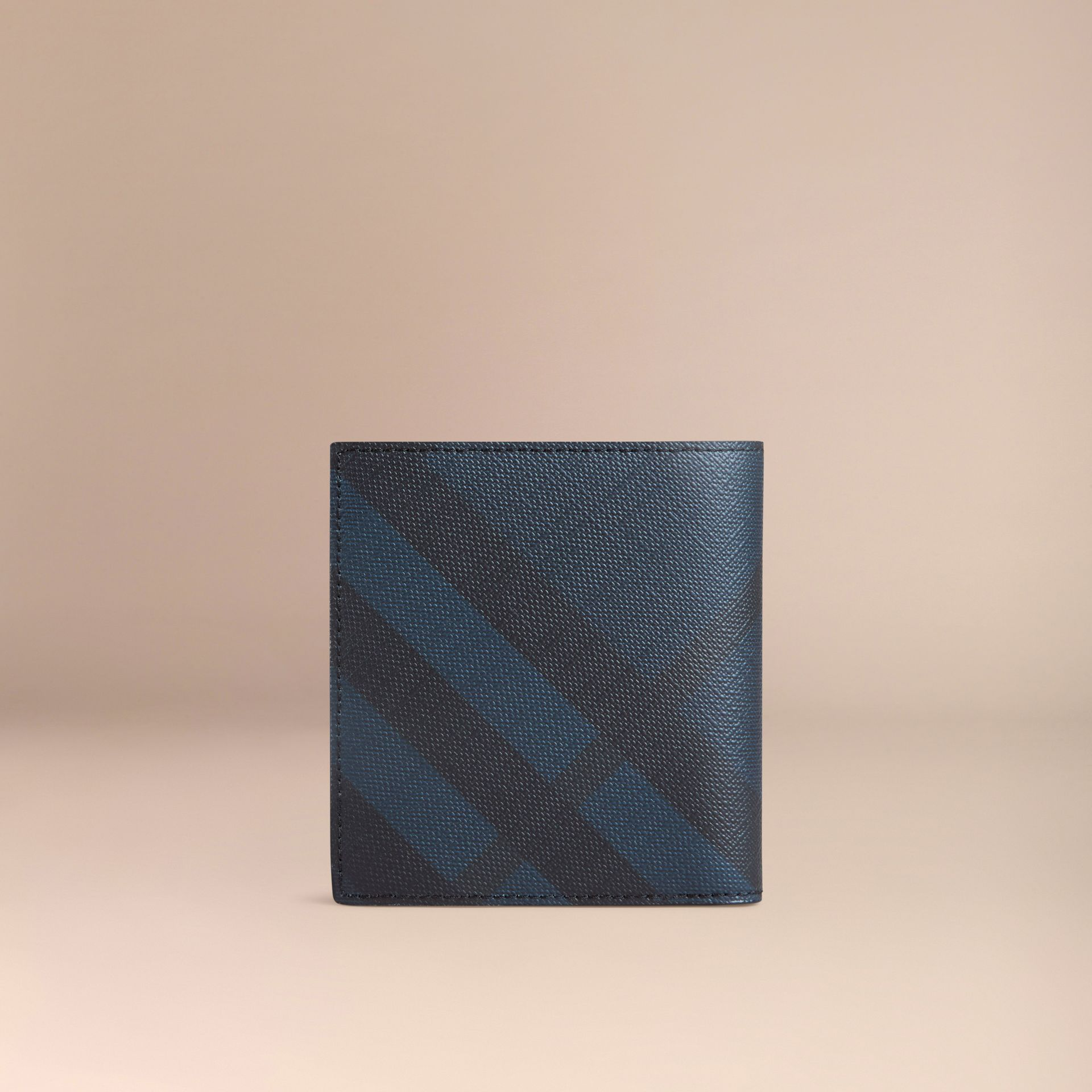 Navy/black London Check ID Wallet Navy/black - gallery image 3