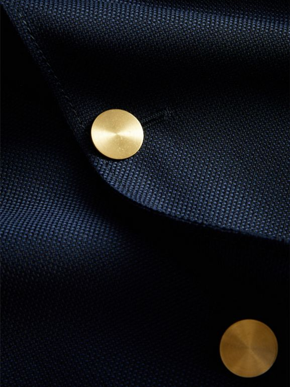 Slim Fit Wool Hopsack Tailored Jacket in Navy - Men | Burberry United Kingdom - cell image 1