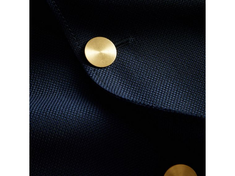 Slim Fit Wool Hopsack Tailored Jacket in Navy - Men | Burberry Australia - cell image 1