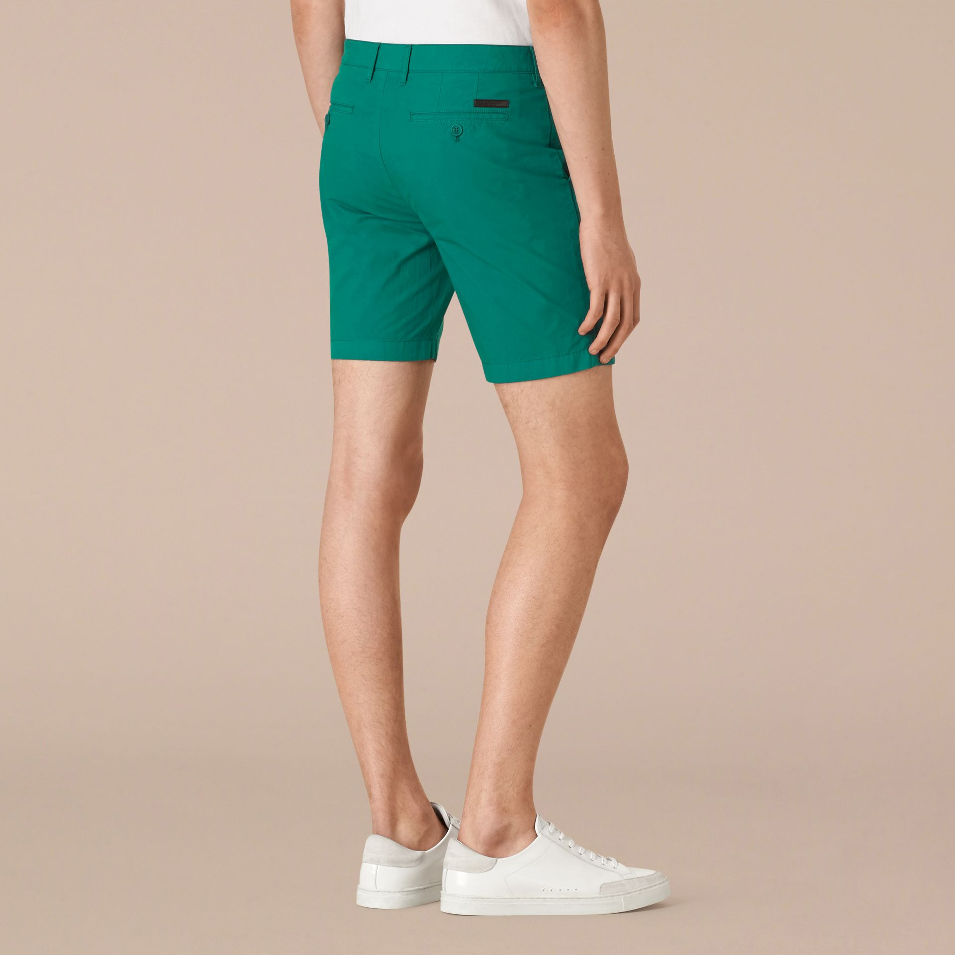 Deep viridian green Cotton Poplin Chino Shorts Deep Viridian Green - gallery image 2