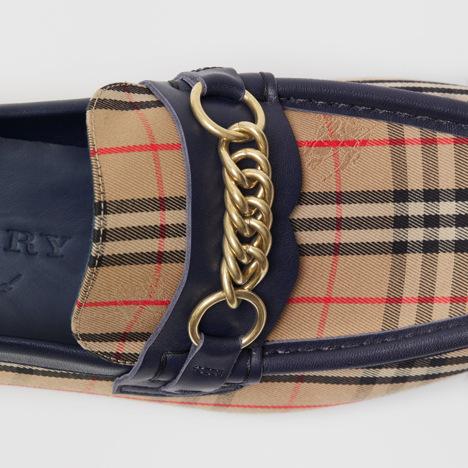 The 1983 Check Link Loafer in Ink Blue - Men | Burberry Singapore - gallery image 4