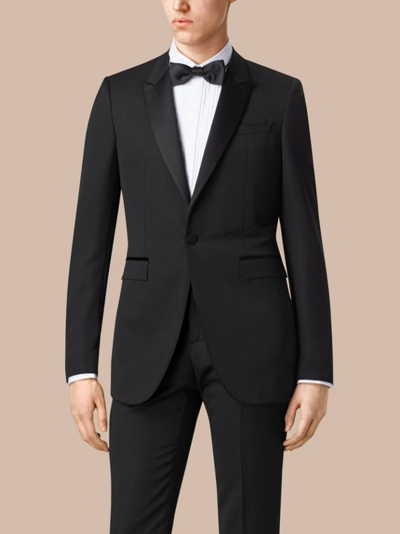 Satin Lapel Tuxedo Jacket Black - cell image 2