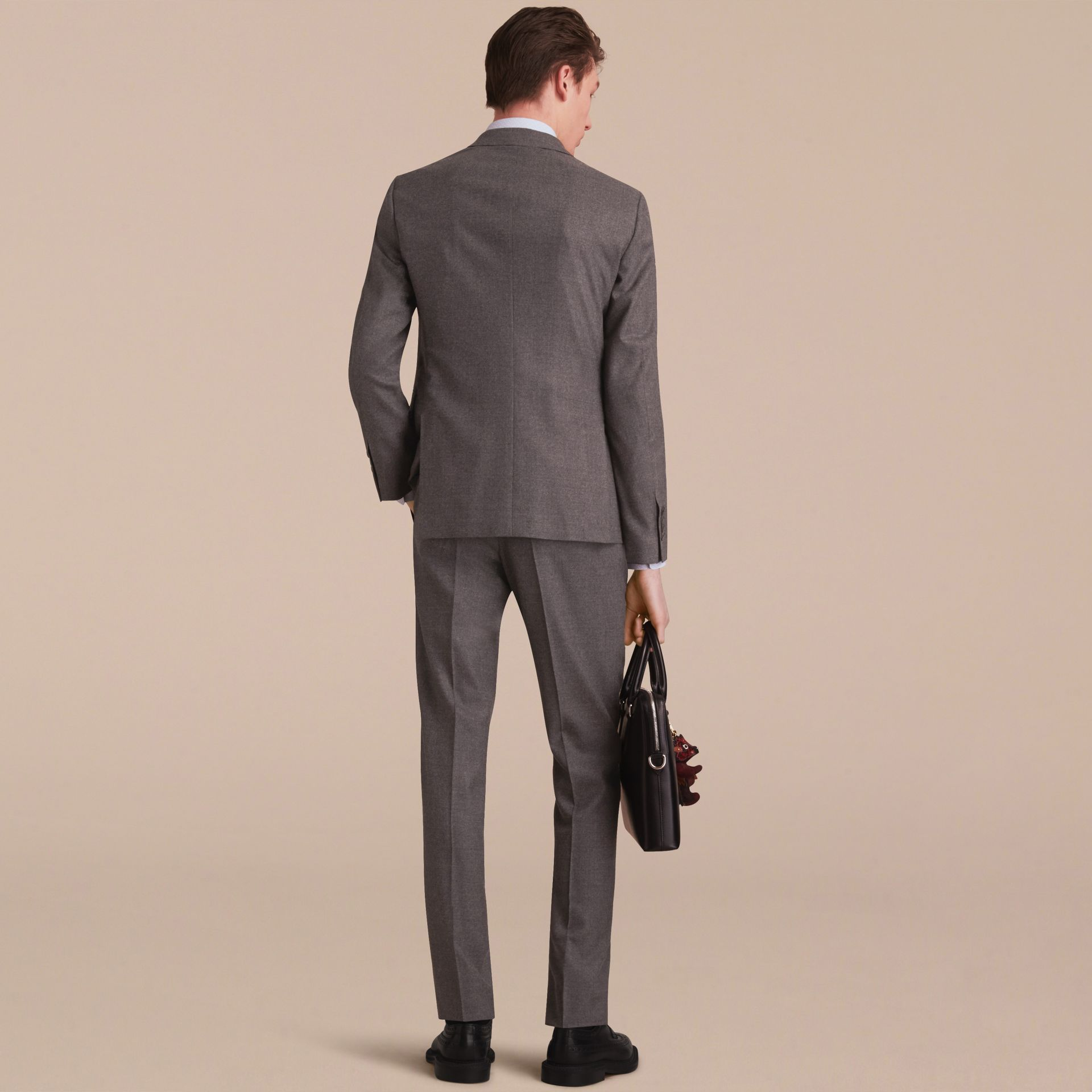 Soho Fit Wool Flannel Suit in Dark Charcoal Melange - Men | Burberry - gallery image 3