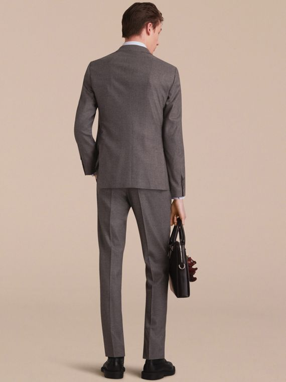 Soho Fit Wool Flannel Suit in Dark Charcoal Melange - Men | Burberry Australia - cell image 2