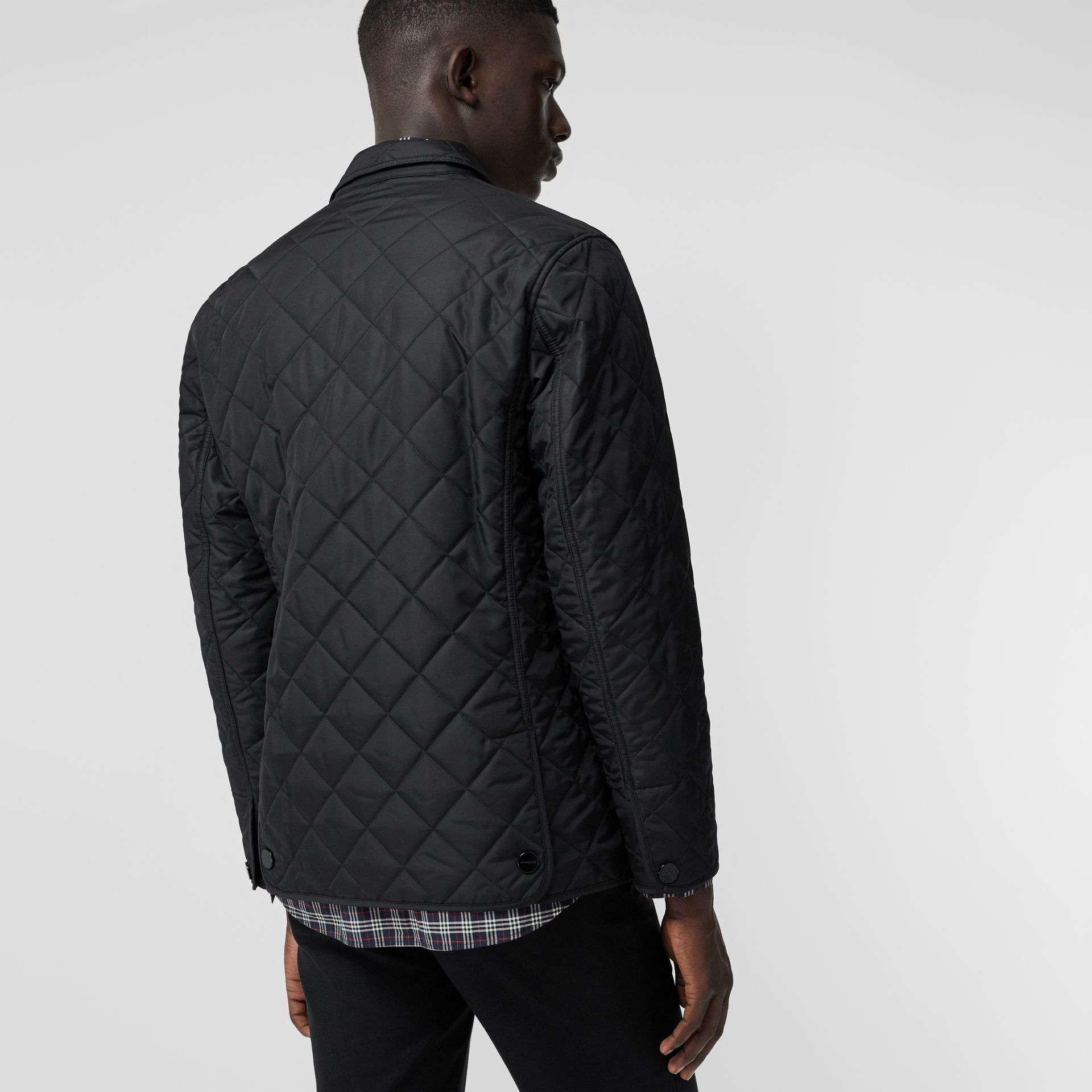 Diamond Quilted Thermoregulated Blazer in Black - Men | Burberry - gallery image 2