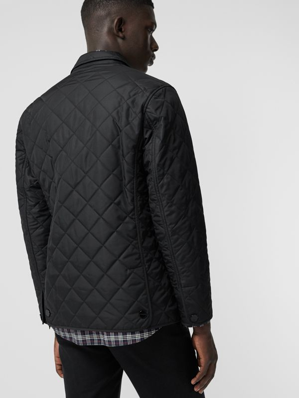 Diamond Quilted Thermoregulated Blazer in Black - Men | Burberry Australia - cell image 2