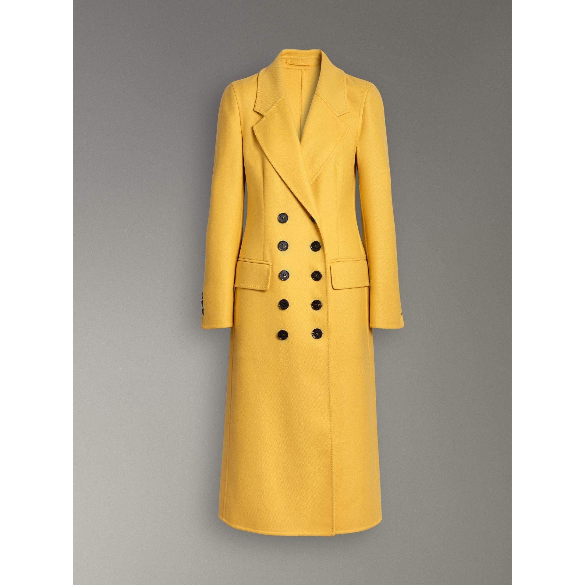 Double-breasted Cashmere Tailored Coat in Ochre Yellow - Women | Burberry United Kingdom - gallery image 3