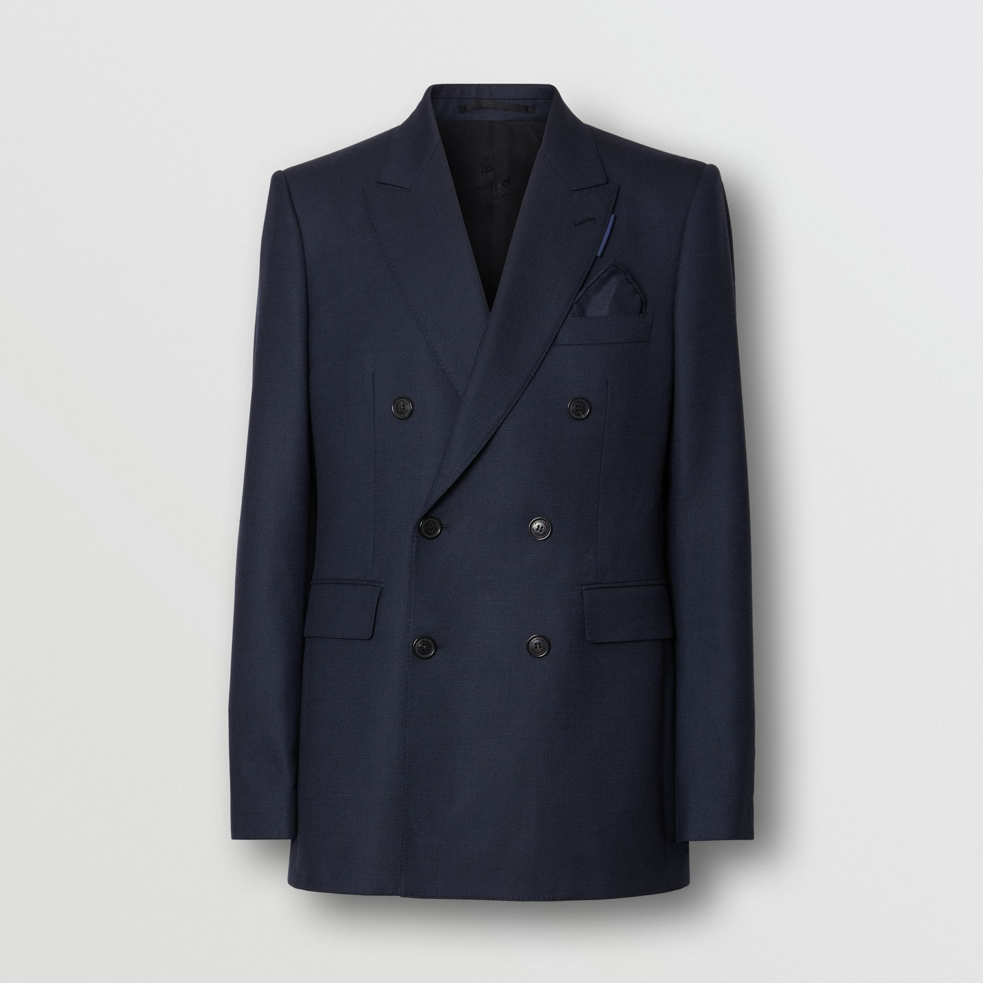 English Fit Birdseye Wool Cashmere Suit in Navy Blue | Burberry - gallery image 3