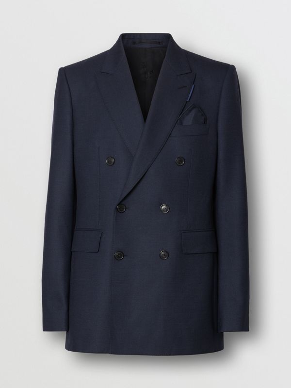 English Fit Birdseye Wool Cashmere Suit in Navy Blue | Burberry - cell image 3