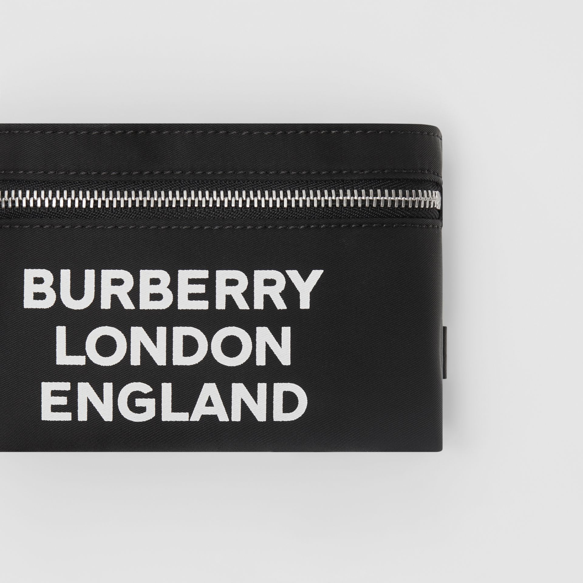 Logo Print Nylon Armband Pouch in Black - Men | Burberry - gallery image 1