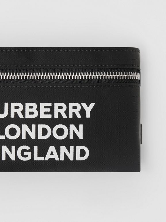Logo Print Nylon Armband Pouch in Black - Men | Burberry Canada - cell image 1