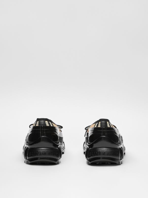 Overshoe Detail Vintage Check Cotton Flats in Archive Beige - Women | Burberry United States - cell image 3